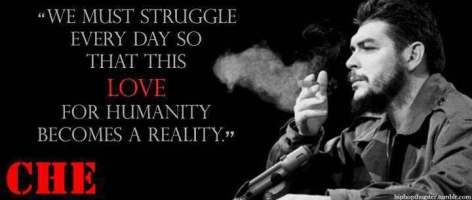 Che Guevara We Must Struggle Every Day