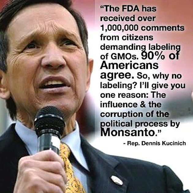 Dennis Kucinich The FDA Has Received