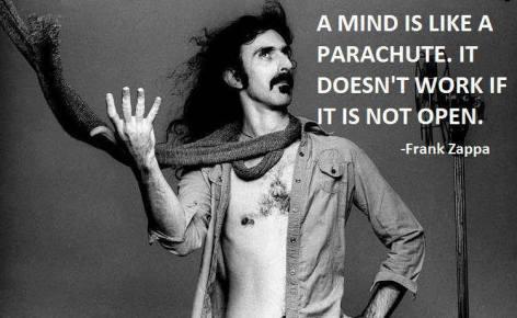 Frank Zappa A Mind Is Like A Parachute