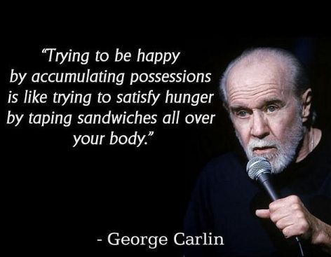 George Carlin Trying To Be Happy