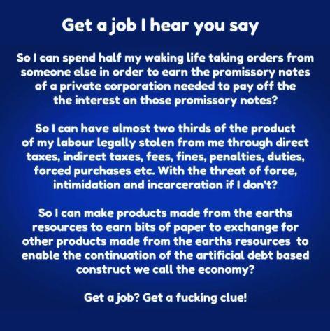 Get A Job I Hear You Say Get A Fucking Clue