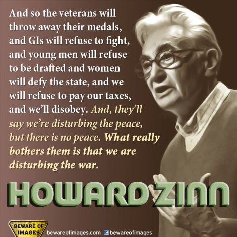 Howard Zinn And So The Veterans Will