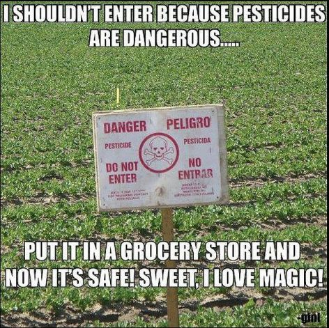 I Shouldn't Enter Because Pesticides Are Dangerous