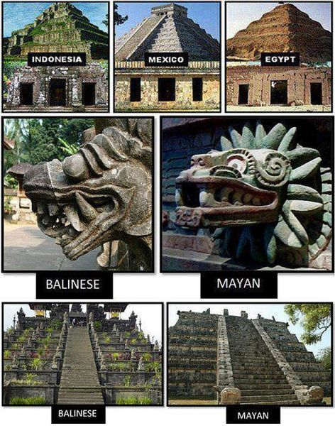 Indonesia Mexico Egypt Balinese Mayan Pyramids
