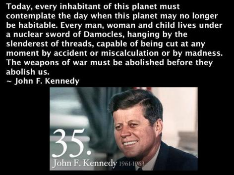 John F. Kennedy Today Every Inhabitant