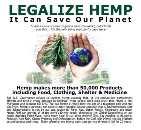 Legalize Hemp It Can Save Our Planet