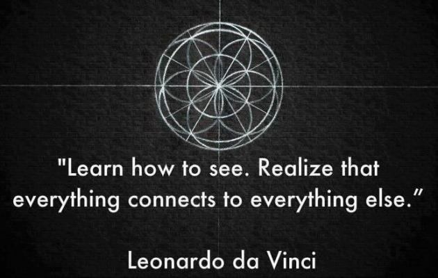 Leonardo da Vinci Learn How To See Realize That Everything Connects To Everything Else