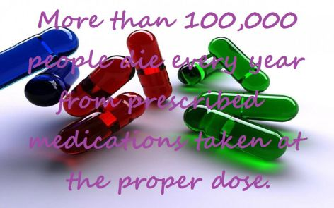 More Than 100000 People Die Every Year From Prescription Medications Taken At The Proper Dose