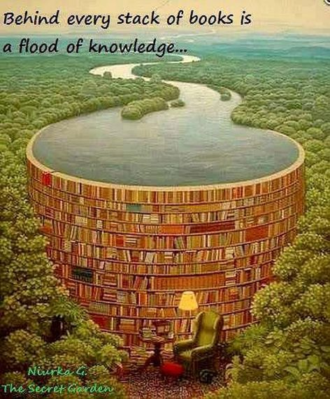 Niurka G The Secret Garden Behind Every Stack Of Books Is A Flood Of Knowledge