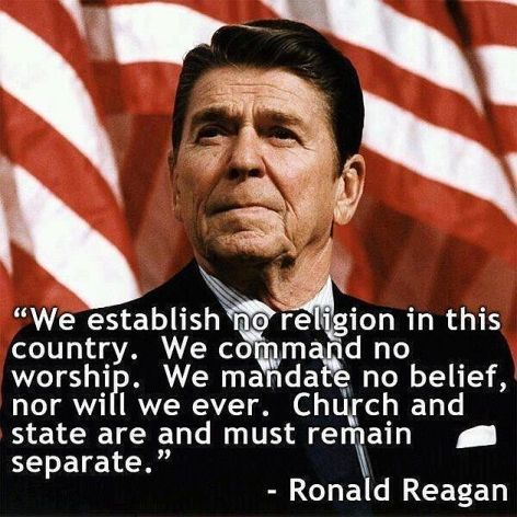 Ronald Reagan We Establish No Religion