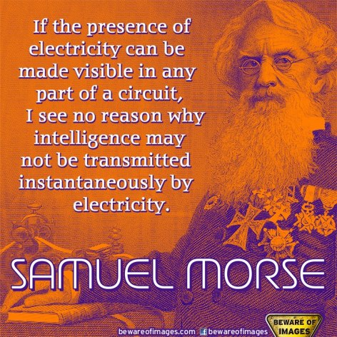 Samuel Morse If The Presence Of Electricity