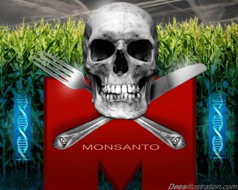 Skull Fork Knife Monsanto