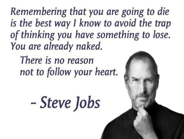 Steve Jobs Remembering That You Are Going To Die