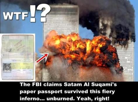 The FBI Claims Satam Al Suqami's Paper Passport Survived This Fiery Inferno Unburned