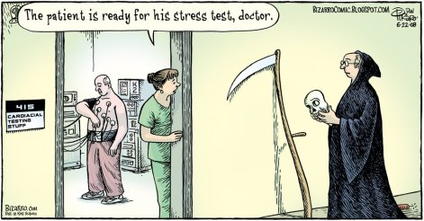 The Patient Is Ready For His Stress Test Doctor