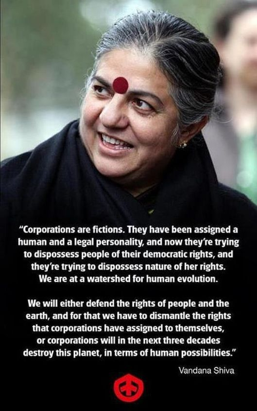 Vandana Shiva Corporations Are Fictions