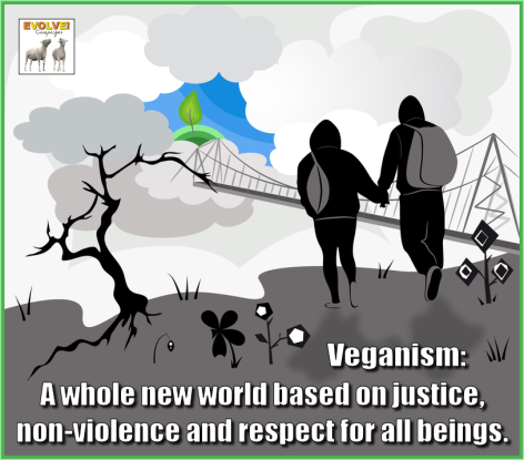 Veganism A Whole New World Based On Justice Non-Violence And Respect For All Beings