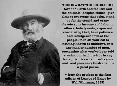 Walt Whitman This Is What You Should Do