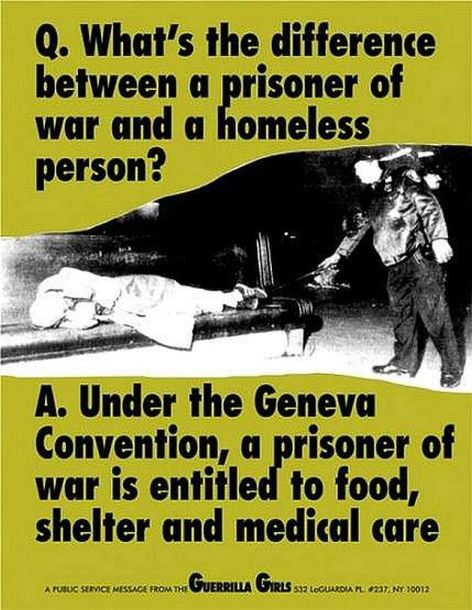 What's The Difference Between A Prisoner Of War And A Homeless Person