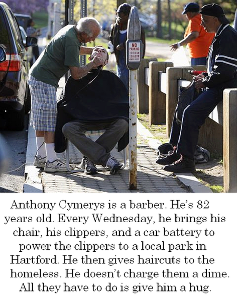 Anthony Cymerys Is A Barber He's 82 Years Old