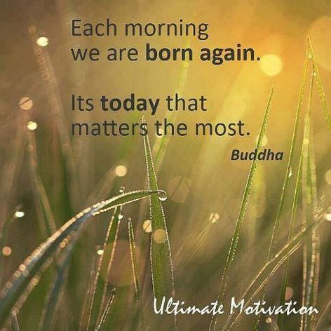 Buddha Each Morning We Are Born Again It's Today That Matters Most