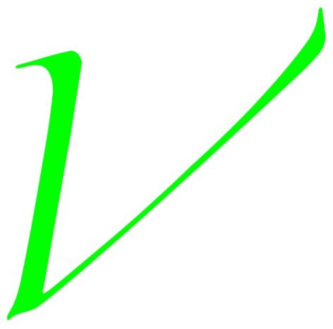 Emerald Letter V For Vegan