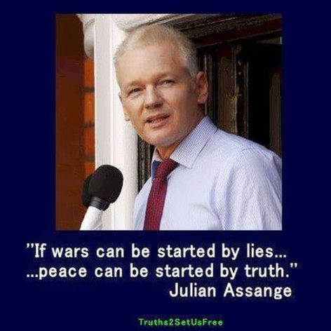 Julian Assange If Wars Can Be Started By Lies Peace Can Be Started By Truth