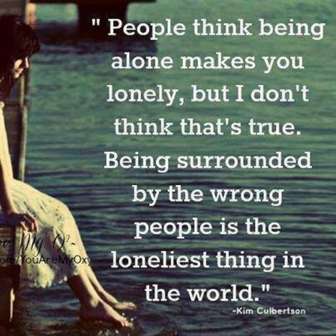 Kim Culbertson People Thing Being Alone Makes You Lonely But I Don't Think That's True