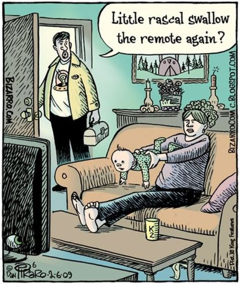 Little Rascal Swallow The Remote Again