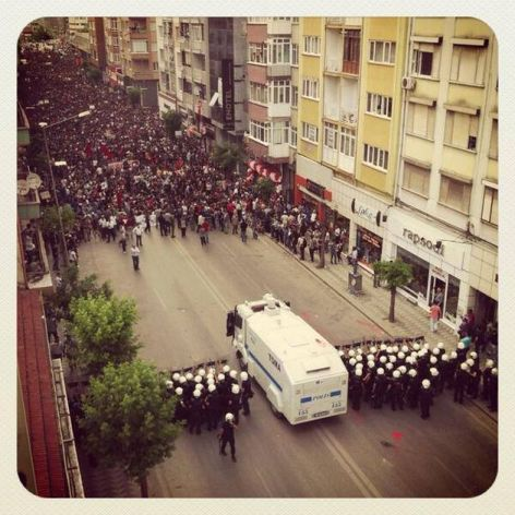People Take To The Streets Of Turkey Riot Police