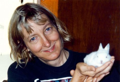 Carol J. Adams With Snowball Both Vegan