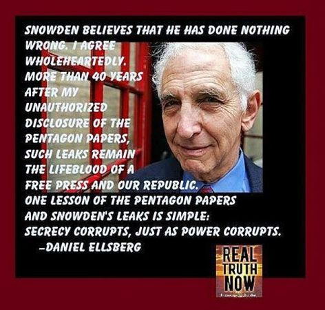 Daniel Ellsberg Snowden Believes That He Has Done Nothing Wrong