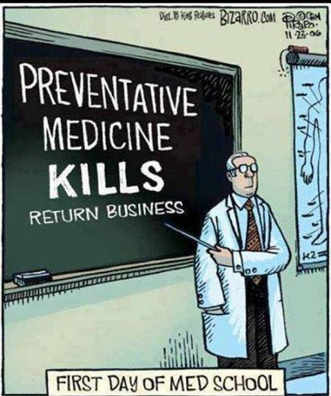 First Day Of Med School Preventative Medicine Kills Return Business
