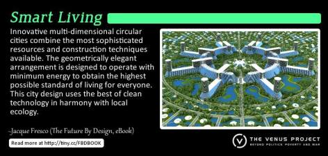Jacque Fresco Innovative Muti-Dimensional Circular Cities