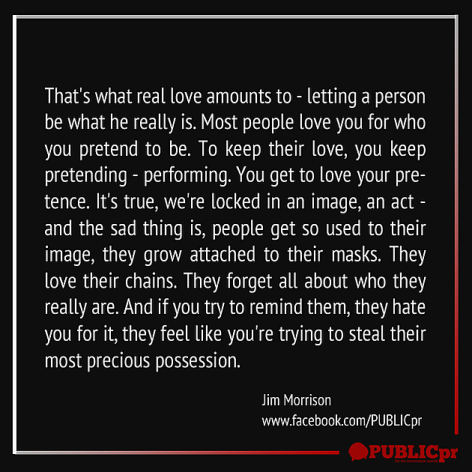 Jim Morrison That's What Real Love Amounts To