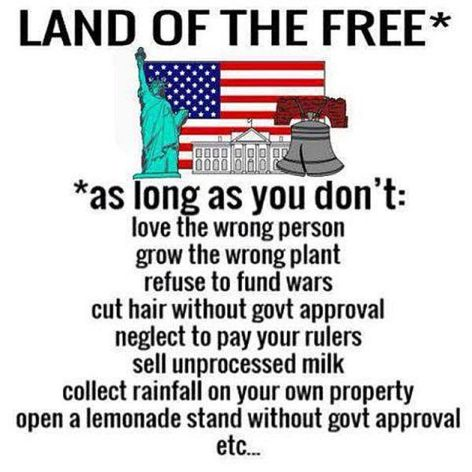 Land Of The Free As Long As You Don't