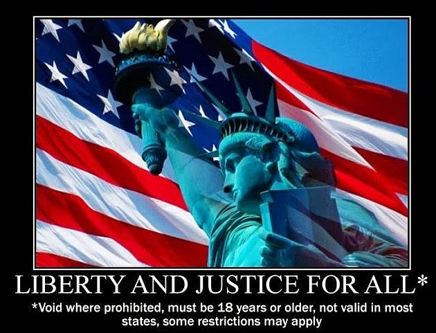 liberty and justice for all The troubled half of the population will argue that the qualities of freedom, liberty, equality and justice  they are proportional to the ethics of all.