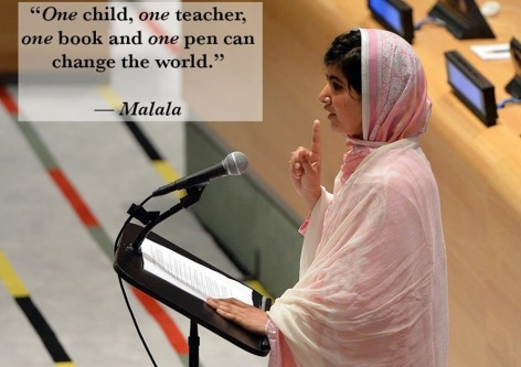Malala One Child One Teacher One Book And One Pen Can Change The World