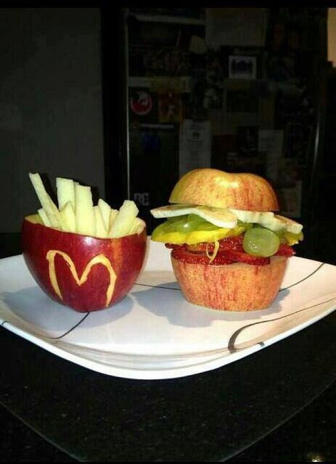 McDonald's Burger And Fries Made Of Fruits
