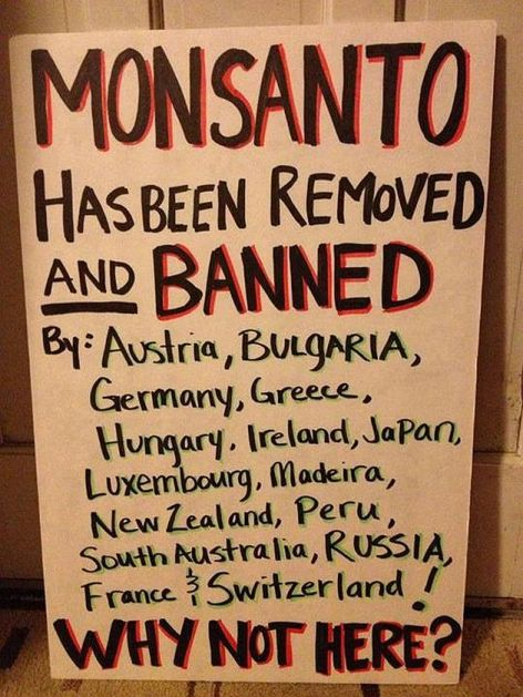 Monsanto Has Been Removed And Banned