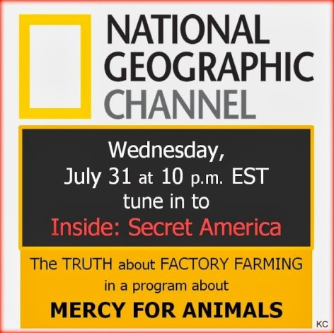 National Geographic Channel Wednesday July 31 At 10 PM EST Tune In To Inside Secret America The Truth About Factory Farming In A Program About Mercy For Animals