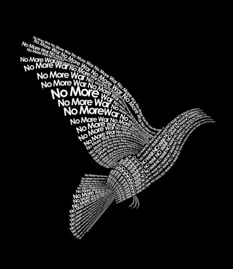 No More War Peace Dove