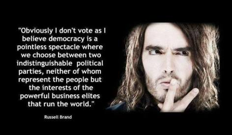 Russell Brand Obviously I Don't Vote