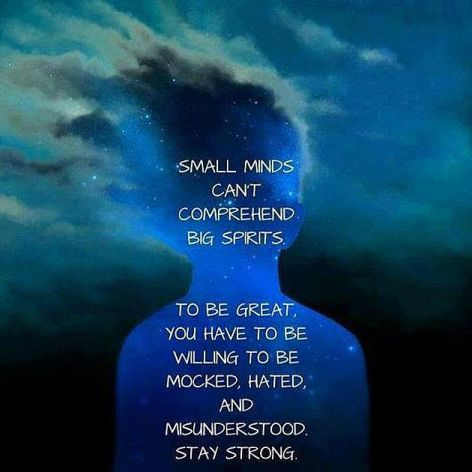 Small Minds Can't Comprehend Big Spirits