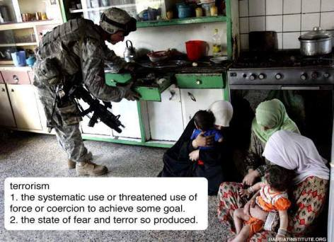 Terrorism The Systematic Use Of Threatened Use Of Force Or Coercion To Achieve Some Goal The State Of Fear And Terror So Produced
