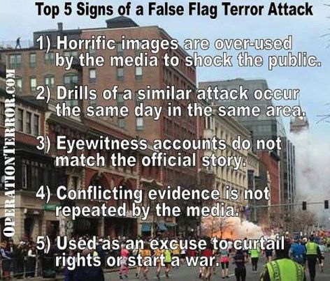 Top 5 Signs Of A False Flag Terror Attack
