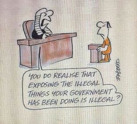 You Do Realise That Exposing The Illegal Things Your Government Has Been Doing Is Illegal