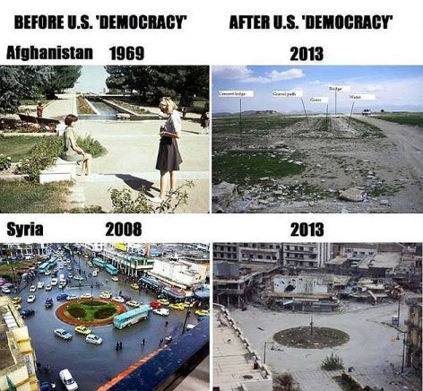 Before US Democracy After US Democracy Afghanistan 1969 2013 Syria 2008 2013