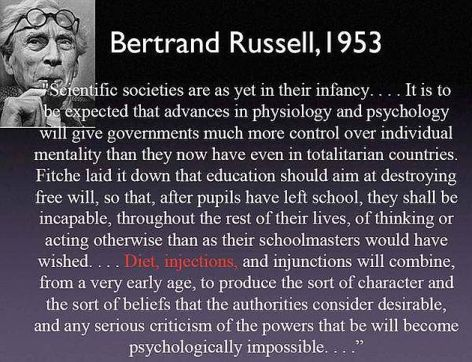 Bertrand Russell Scientific Societies Are As Yet In Their Infancy