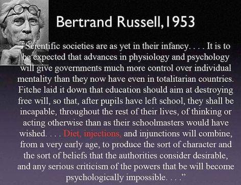 Bertrand Russell Scientific Societies Are As Yet In Their Infancy